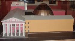 Макет реконструированного здания театра.