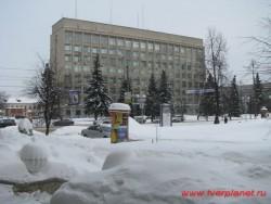 Вид лютеранской церкви и площади Детских садиков со стороны ул. Советской в 2011 году.