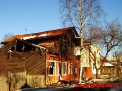Дом Чаплина после 1 пожара, фото 2006 года