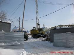 Пожарная площадь. Стройка нового жилого комплекса идет ударными темпами. Фотография 2011 года.
