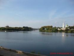 Город Тверь. Место впадения Тверцы в Волгу