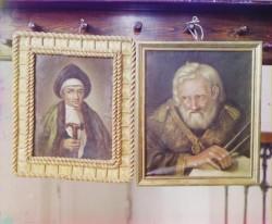 Портрет инокини Марфы, матери Царя Михаила Федоровича и Портрет Сердюкова. Фото - 1910 год